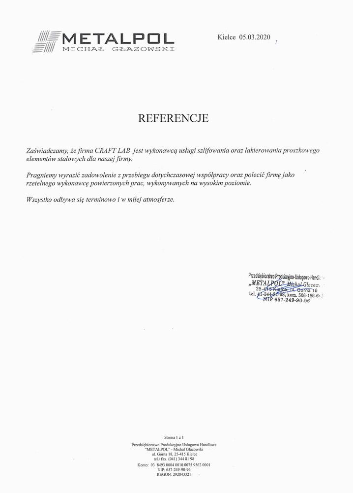 Referencje METALPOL